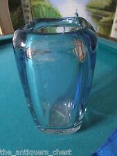 "Strombergshyttan glass vase 9 1/4"" tall, beautiful piece of art[C]"