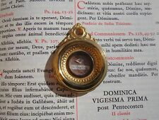 Vatican reliquary 1800s 2nd class relic St. Clare of Assisi COA