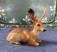"""Vintage Elk Moose Deer Molded Plastic 5"""" X 5.5"""""""