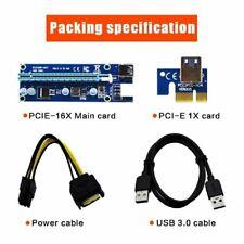 USB 3.0 Pcie PCI-E Express VER006C Extender Riser Kartenadapter Power BTC N C6P1