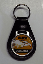 Reproduction Vintage Raider Double Eagle Snowmobile  Leather Keychain