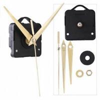 Quartz Movement Mechanism Silent Clock Gold Hands DIY Parts Kits Handwork P E5I6