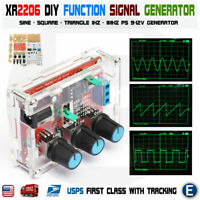 XR2206 Function Signal Generator DIY Kit Sine Output 1HZ-1MHZ + acrylic case USA