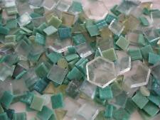 Lot 7.5 LBS Glass Mosaic Tiles-Sea Colors-Blues-Greens-Some Larger-Some Smaller