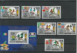 Korea, football, 1986,overprint, full set, MNH