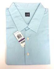 John Ashford Blue Striped Cotton Blend Long Sleeve Shirt 2XB Big & Tall Big 2X