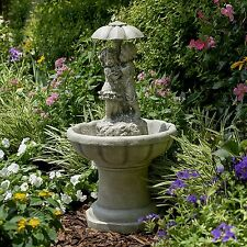 Garden Water Fountain Outdoor Waterfall Decor Patio Lawn Yard Landscape Ornament