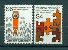 "Nations Unies  Vienne 1981 - Michel n. 17/18  -  ""Année Internationale des perso"