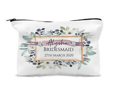 Personalised Make Up Bag,Travel Bag, Cosmetic Case/Bridesmaid Keepsake Gift