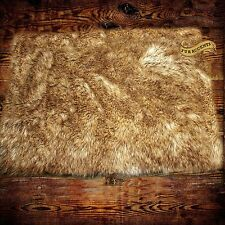 Faux Fur Coyote Pelt Area Rug - Light Wolf - Bear Skin Rug 4' x 5' FUR ACCENTS