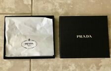 "Prada - Small Black Square Gift / Storage Box (9"" X 8"" X 2"")"