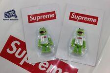 Supreme Kermit Box Logo Medicom Toy Figure SEALED Kubrick Frog Christmas gifts