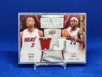 LeBron James / Dwayne Wade 2009-10 Upper Deck  Dual Game Materials Jersey Card