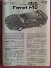 Maquette Italeri 1/24 voiture Ferrari F40 Le Mans