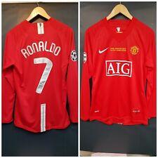 Ronaldo 7 Manchester United 2008 Champions League Final shirt M manches longues