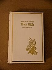 Holy Bible~Memorial Edition~White Leather~Concordance~Today Inc~1976 Red Letter