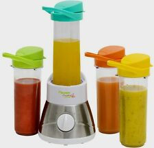 Bestron AFM400 Standmixer Smoothie Maker mit 4 Flaschen mixer je. 400ml 400Watt