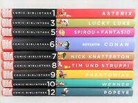 9 x Bild Comic-Bibliothek - Asterix Tim Struppi Lucky Luke Bücherpaket Sammlung