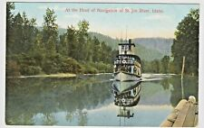 Vintage M. Rieder Postcard — At the Head of Navigation of St. Joe River, Idaho