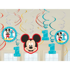 Disney Baby Mickey Mouse 1st Birthday Swirl Decorations 12 Pieces Decoration