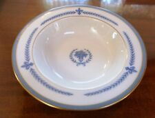 Vintage Regal Lamberton Ivory China Puritan Fleur de Lis Flat Rimmed Soup Bowl