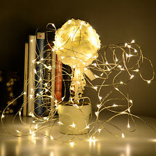 5M Copper Wire 50 Led String Fairy Light Battery Warm White Xmas Tree Home Decor