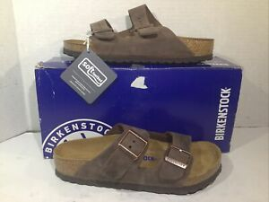 Birkenstock Womens Size 5 EU 36 Arizona Habana Leather Slides Sandals ZB6-1676
