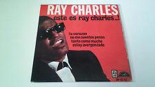 """RAY CHARLES """"ESTE ES RAY CHARLES..!"""" EP SPANISH 7"""" SINGLE G/G B/B 1962"""