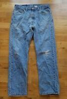 Levis 505 34x30 Light Wash Red Tab Jeans Pants Men L658