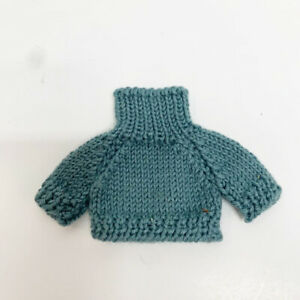 "Blue Knit Small 6""- 8"" Doll Or Bear Turtleneck Sweater"