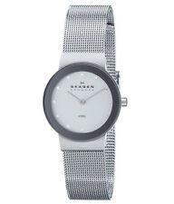 Skagen 358SSSD Women's Denmark Silver Dial Stainless Steel Mesh Bracelet Watch