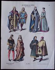 Münchner Bilderbogen - Zur Geschichte der Kostüme - #490 - XIV. Jahrhunderts.