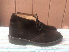 EUC Polo Ralph Lauren Men's US 8.5D Marlow Brown Suede Ankle Boots $150.00