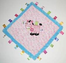 """Taggies Pony Security Blanket Baby Lovey Pink Horse Tags 15"""" Rare"""