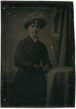 Photo Ferrotype Portrait Jeune Femme Vers 1880