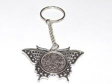 1961 Sixpence Butterfly Keyring for 57th Birthday Gift boxed
