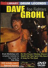 Lick Library Dave Grohl Foo Fighters Aprende A Tocar Rock lección Tambor Legends Dvd