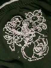 Mossimo Size Small Dark Green Bikini Top & Pink Details & Trim