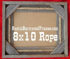 8x10 rope rustic barnwood barn wood photo picture frame