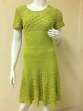 Oscar De La Renta Vintage Collection Hand Crochet Silk Dress