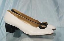 Classy Black & White Harlequin Leather St. JOHN Italy Pumps US 7.5AA