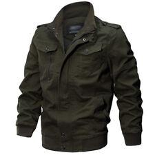 Mens Vintage Jacket Pilot Bomber Combat Coat Air Force Flight Army Jackets