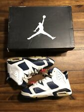 Air Jordan VI 6 Olympic Sneakers size 4 Great Condition W/ Box