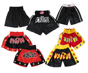 Kickboxing Fight Shorts, Muay Thai MMA Grappling Cage Martial Arts Trunks Pants