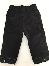 CATIMINI 3 ans, pantalon en velours noir TBE