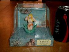 Mermaid On Starfish, [Aquarium Ornament] Bisque Porcelain, Hand Painted, Vintage