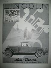 PUBLICITE DE PRESSE LINCOLN AUTOMOBILE SAINT-DIZIER GOLF FRENCH AD 1930