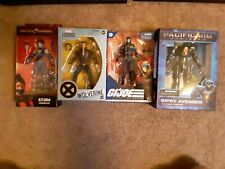Hasbro mcfarlane gi joe classified cobra commander,kitana,wolverine