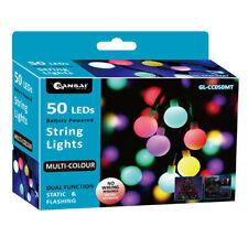 Sansai 50 LED Battery Globe Decorative/Christmas String Lights Multi-Colour