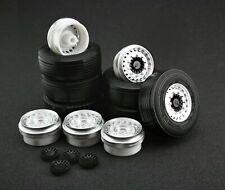 1/43 Wheels set for Euro Trailer / truck (tire + rim+hub) - Maestro Wheels